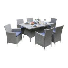 Purda Vida 6-Piece Dining Set, Blue