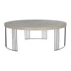 Safavieh   Safavieh Keelin Scandinavian Wood Coffee Table, Gray And Black   Coffee  Tables