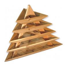 Raised Bed Cedar Planter 5-Level Triolife Plant Pyramid