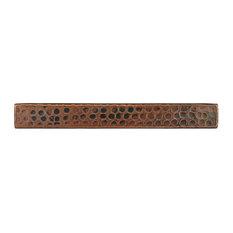 """Hammered Copper Tile, 1""""x8"""", Set of 8"""