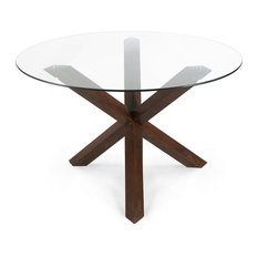 """Poly and Bark Kennedy 48"""" Round Dining Table, Walnut"""