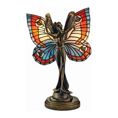 Butterfly Fairy Stained Glass Lamp