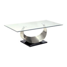 Furniture of America Suse Coffee Table in Satin Plated