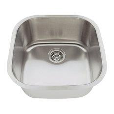 Polaris P0202-16 Stainless Steel Sink, Brushed Satin