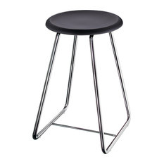 Outline Shower Stool Stainless Steel/Black Werzalit Seat