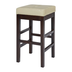 Valencia Backless Bicast Leather Counter Stool Beige