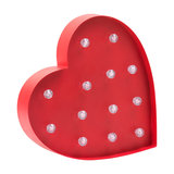 Red Heart Shaped Novelty Table or Wall Light