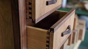 Side Cabinet, European Oak & American Black Walnut