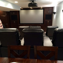 Open Basement Home Theater