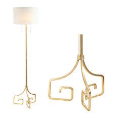 """Newman 61.5"""" Metal Led Floor Lamp, Gold"""