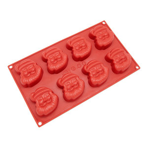 Freshware 8-Cavity Silicone Holiday Santa Claus Mold