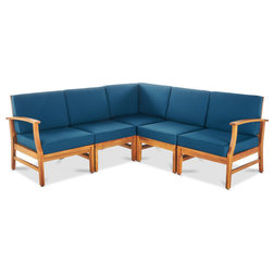 Transitional Outdoor Sofas by GDFStudio