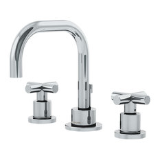 Dia 2-Handle Widespread Faucet With Cross Handles and Drain Assembly, Chrome