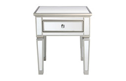 Louis 1-Drawer Mirrored Side Table