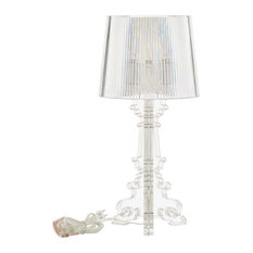 French Petite Acrylic Acrylic Table Lamp, Clear