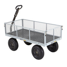 Gorilla Carts Heavy-Duty Steel Utility Cart With Removable Sides, Gray