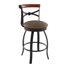 Bourbon Swivel Stool, Base: Cobrizo/Textured Dark Brown, Counter Height, Seat: M