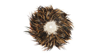 Juju Style Brown Feather Wall Sculpture, 50 cm
