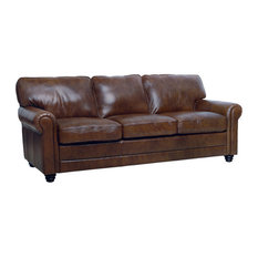 luke leather furniture italian leather sofa havana brown sofas - Italian Leather Sofa