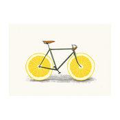 Lemon Bicycle Wall Sticker Decal, Zest by Florent Bodart, Medium