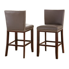 Tiffany Chairs, Set of 2, Gray, Counter Height