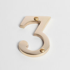 - Sandleford 75mm Brass Numeral - Number 3 - House Numbers