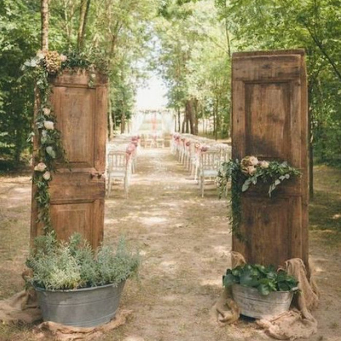 """Mariage """"Upcycling"""" et nature"""