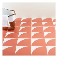 "Tori Crescent Coral 8""x8"" Matte Porcelain Floor and Wall Tile"