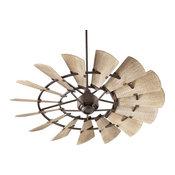 "Quorum Windmill Ceiling Fan, Oiled Bronze, 60"""