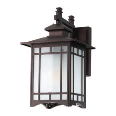 Louise Outdoor Wall Lantern, Oiled Bronze