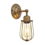 Orlando Wire Cage Wall Light, Brass