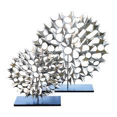 "Cosmos Sculpture in Nickel - Small - 25.5""T"