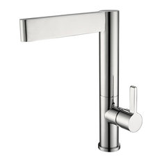 Grenoble Solid Brass Single Handle Chrome Silver Deck Mounted Kitchen Faucet