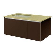 "Robern VF36PDL Customizable Modern Bathroom Vanity With 2-Drawer, 36"""
