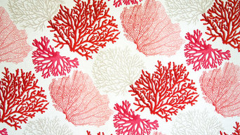 Red coral fabric pink salmon orange ocean