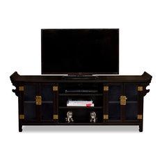 Elmwood Altar Style Media Cabinet Distressed Black