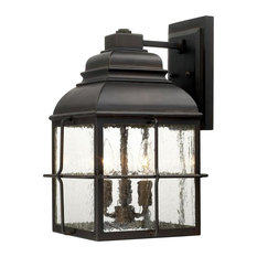 Old Bronze Lanier 3-Light Outdoor Wall Sconce
