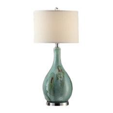 "Sea Breeze Table Lamp, 28""Height, Cream Linen Shade"