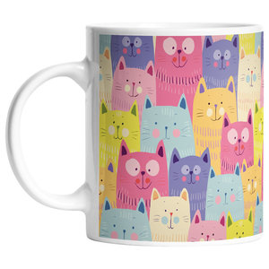 Cats in Colours Mug