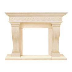 President Series Sierra Cast Stone Fireplace Mantel