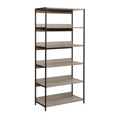 Furniture Of America Allan Contemporary 6-Layer Bookshelf In Sand Gray