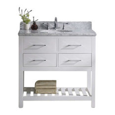 "Caroline Estate 36"" Single Bathroom Vanity Cabinet Set, White"