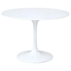 """Flower Table, 27"""", White"""