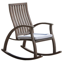 Transitional Outdoor Rocking Chairs by GDFStudio