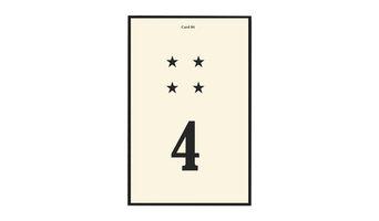 Number 4 Flash Card Art, Black
