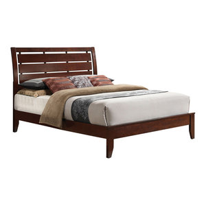 Ilana Bed, Brown Cherry, Eastern King