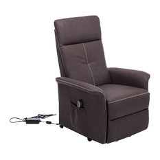 aosom homcom 45 3position electric lift chair recliner brown lift chairs sale