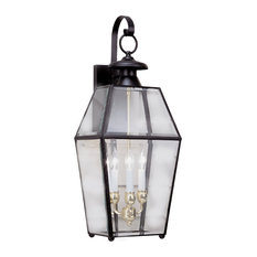 """Norwell Lighting 1067 Old Colony 3 Light 28"""" Tall Outdoor Wall - Black with"""