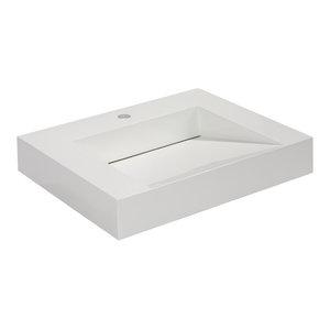 "Aquamoon Venice Infinity Modern Bathroom Vessel Sink, 23 3/4"""