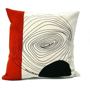 Trail Pattern Cushion, Red